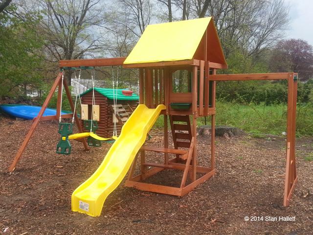 Cedarbrook Wood Gym Set Playset Installation Swing Set Assembly