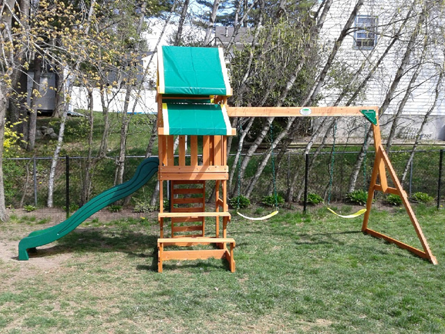 Backyard Discovery Playset Installation Swing Set