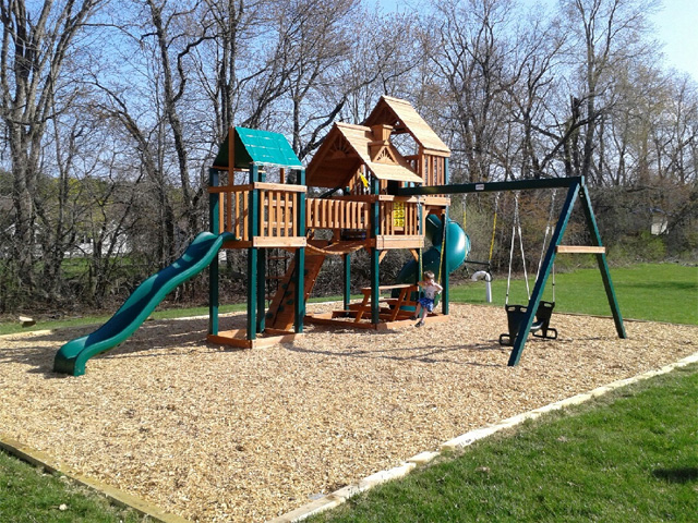 Treasure Trove Playset Installation Swing Set Assembly Ma Ct Ri