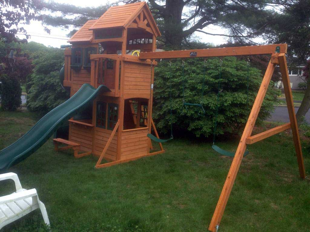 Shelbyville Deluxe Playset Swing Set Installation Ma Ct