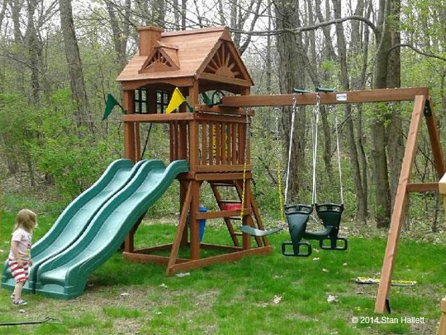 Gorilla Playsets Double Down Cedar Swing Set