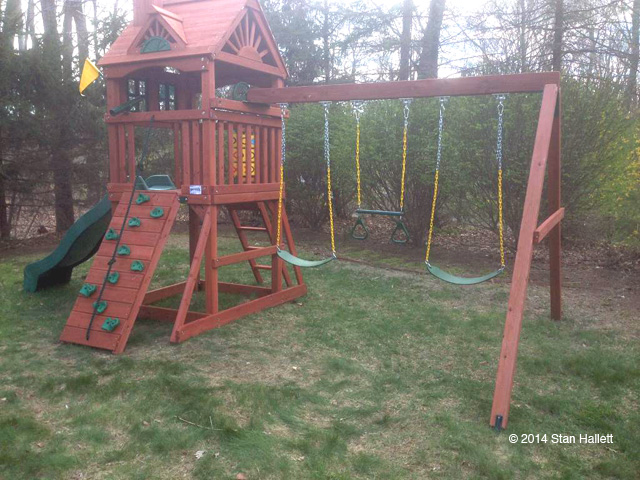 Gorilla Playsets Landing Cedar Wooden Swing Set