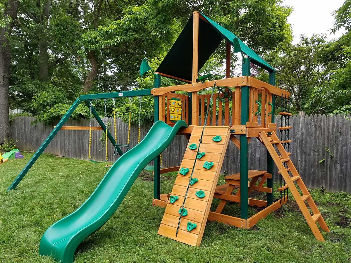 Gorilla Chateau Swing Set Assembly and Installation, Fairfield, CT
