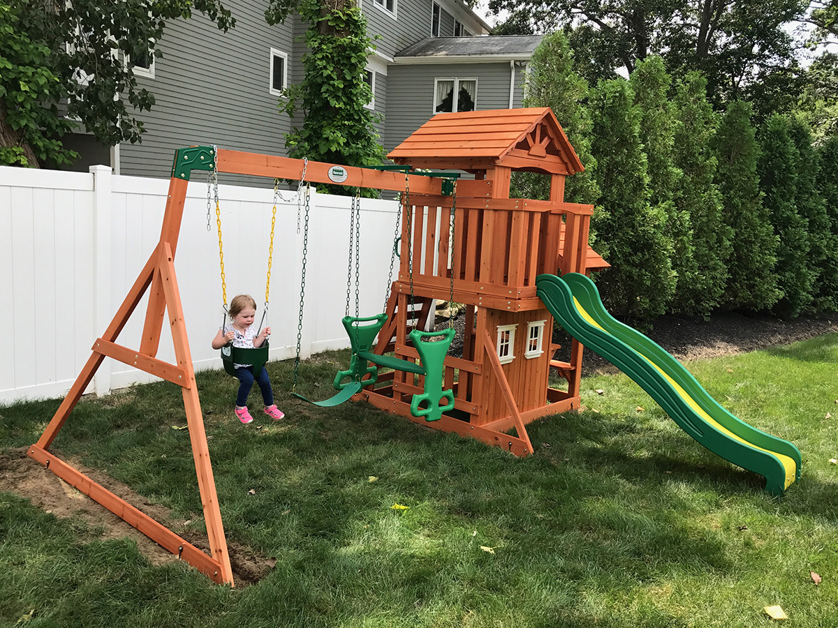 Backyard Discovery Tanglewood Swing Set Installed - Playset Assembler & Swing Set Installer, Weymouth, MA – Playset