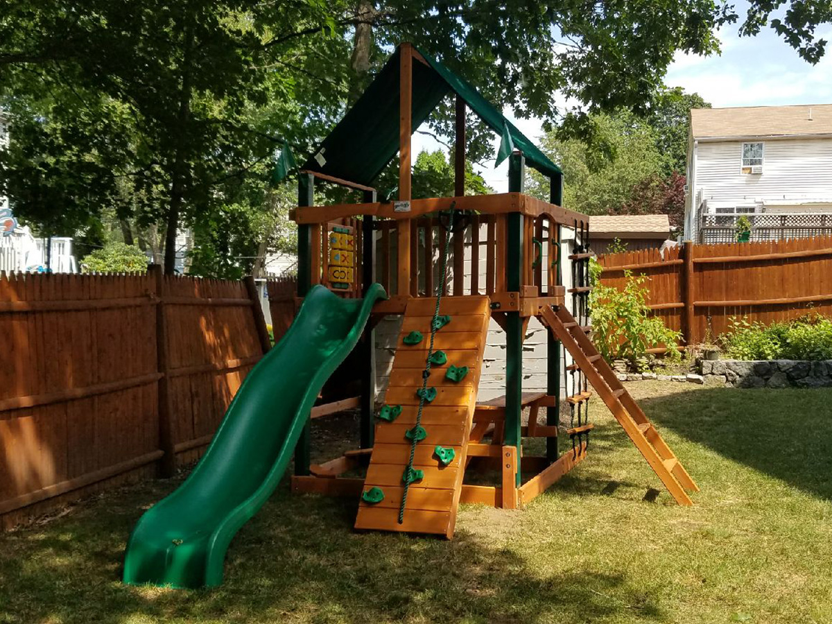 Gorilla Chateau Tower Playset Assembly and Installation in Reading, MA