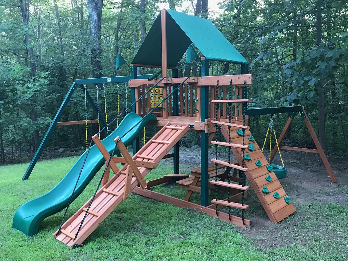 Gorilla Frontier Swing Set Installation in Bethany, CT