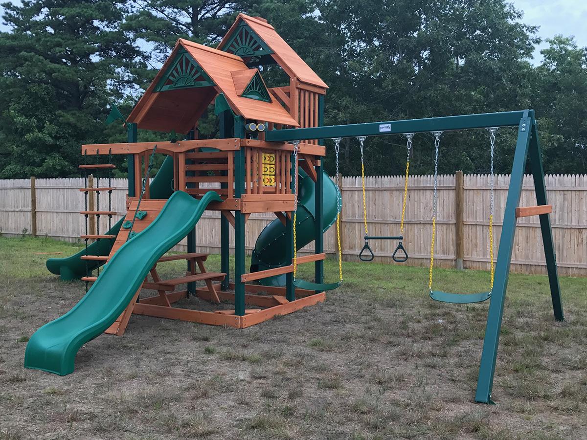 Gorilla Great Skye II Swing Set Installation