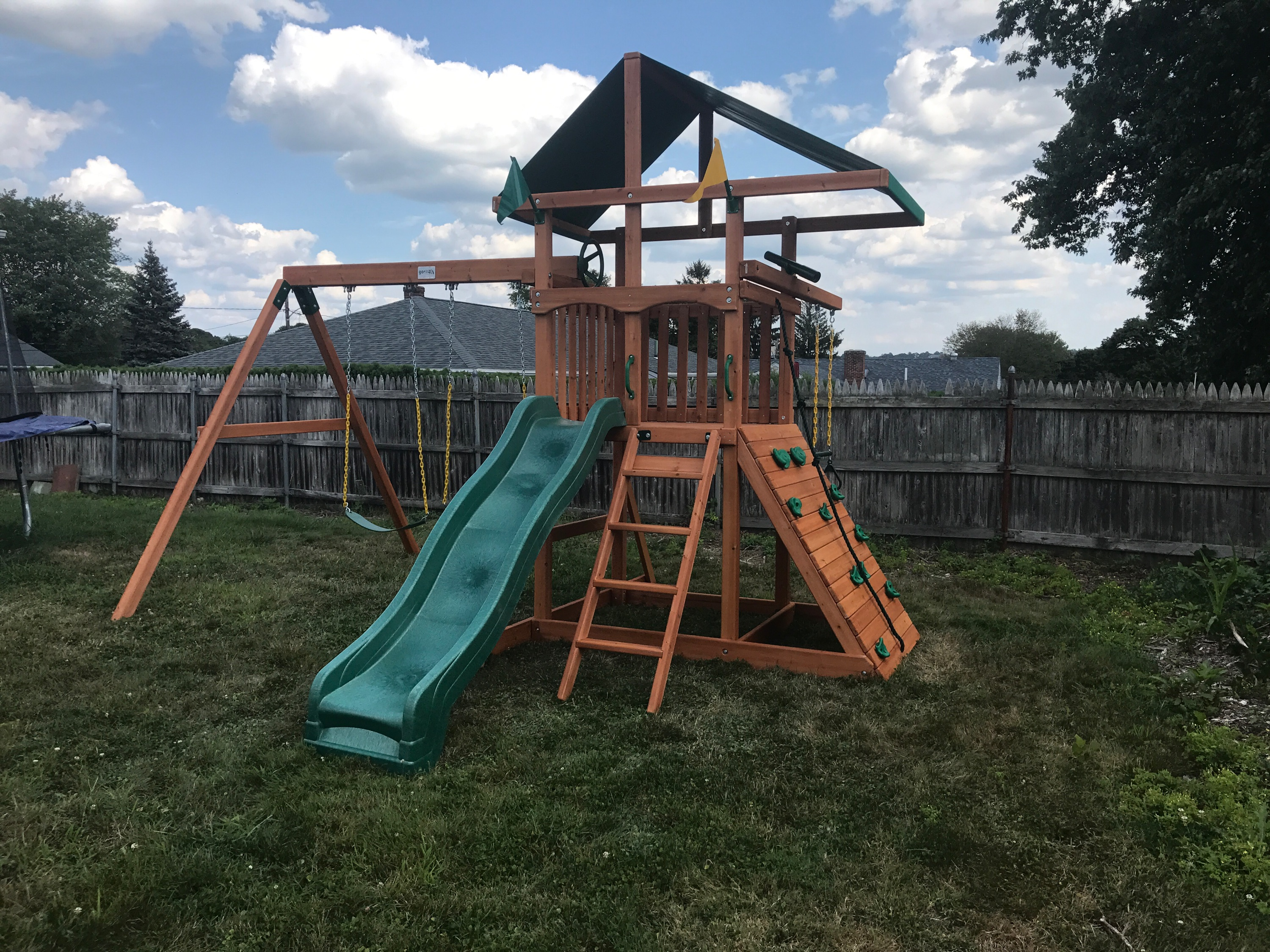 Gorilla Outing Swing Set Installation in Somerset, MA