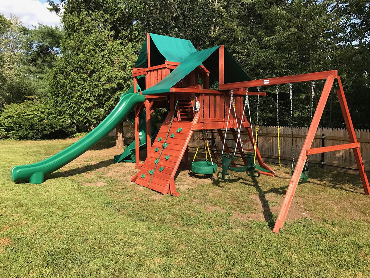 Gorilla Sun Valley Deluxe Swing Set Installation in Grafton, MA