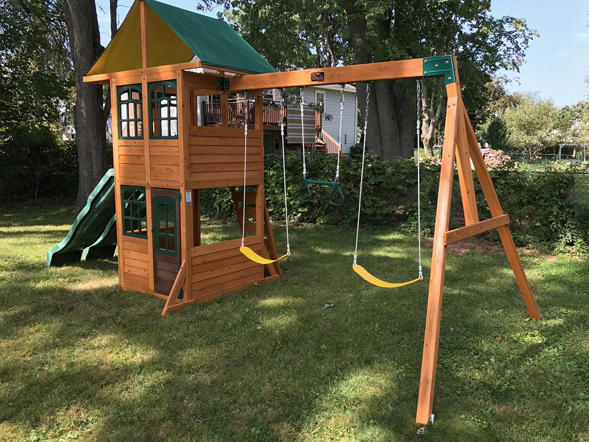 Big Backyard Treasure Cove Swing Set Installed