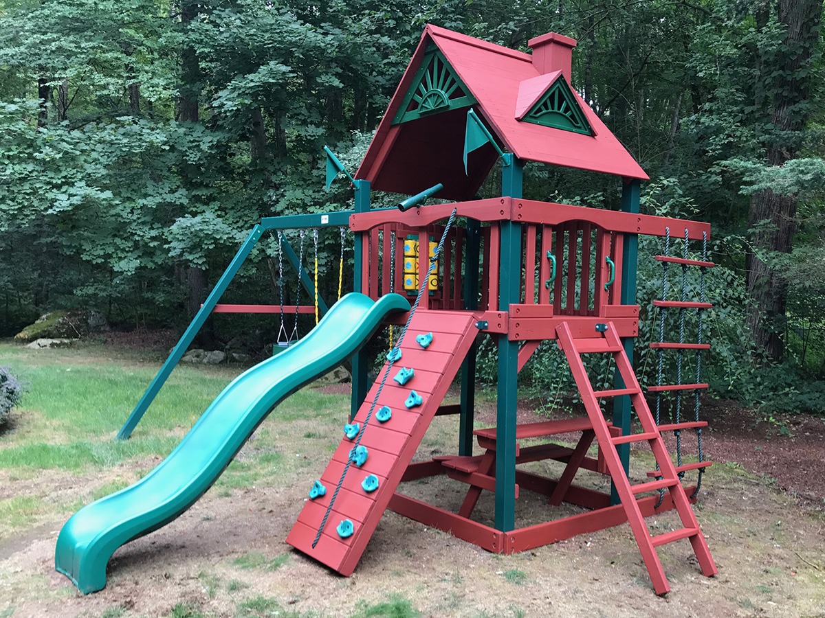 Gorilla Playset Repaired, Stained and Sealed