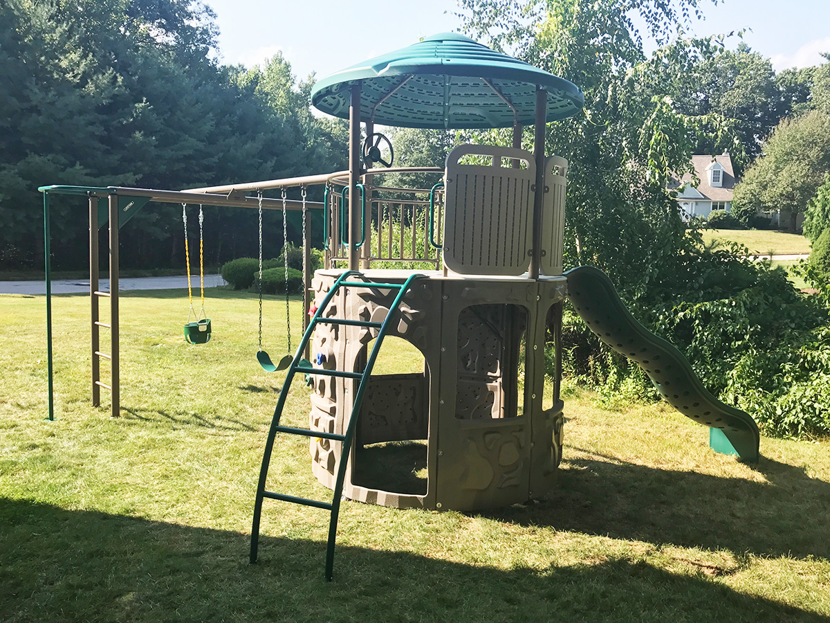 Lifetime Adventure Tower Deluxe Swing Set Assembly in Greenville, RI