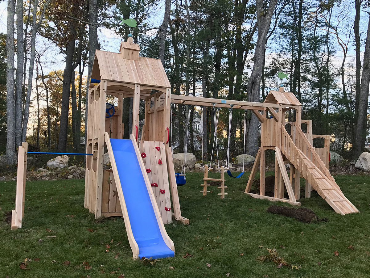 CedarWorks Frolic Playset Assembly in Norwell, MA