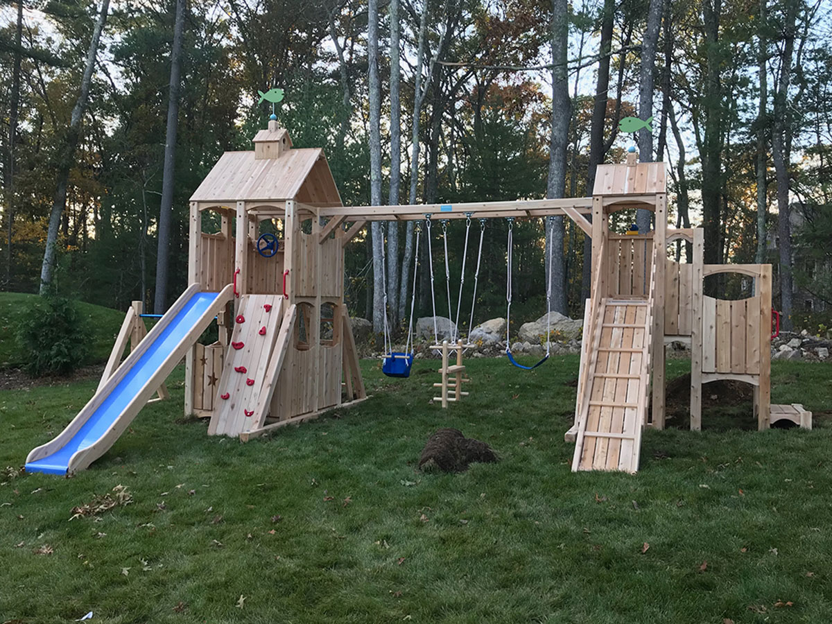CedarWorks Swing Set Assembly and Installation in Norwell, MA